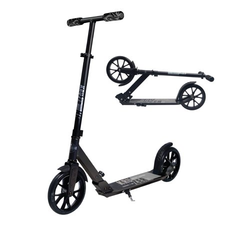 MADD GEAR - Kruzer 200 Commuter Scooter – Height Adjustable Handlebar - Suits Ages 8+ - Max Rider Weight 220lbs - 3 Year Manufacturer's Warranty - World's #1 Pro Scooter Brand ()