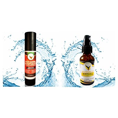 facial serum and moisturizer set - natural organic anti aging treatment - amazing customer reviews - effective skincare system for wrinkles and dry skin - on sale buy now .