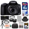 Canon PowerShot SX60 HS Wi-Fi Digital Camera with 16GB Card + Case + Battery + Flex Tripod + Filters + Tele/Wide Lens Kit Canon PowerShot SX60 HS Wi-Fi Digital Camera <br>Zoom like never before. <br><br>Craters on the moon, wildlife from afar, your childs face on a crowded school stage... the <b>Canon PowerShot SX60 HS Wi-Fi Digital Camera</b> gives you the reach to capture it all. The cameras astonishing <b>65x Optical Zoom</b> (21mm-1365mm) Wide-Angle Lens with <b>Optical Image Stabilizer</b> combines tremendous flexibility with portable ease. <br><br>Capture close-ups, wide shots and everything in between with beautiful quality thanks to a <b>16.1 Megapixel High-Sensitivity CMOS Sensor</b> and Canons latest <b>DIGIC 6 Image Processor</b> that together create the Canon HS SYSTEM for excellent low-light performance. <br><br>Advanced technology including Zoom Framing Assist and Intelligent IS help you track and capture clear, steady long shots. Shoot realistic <b>1080p Full HD video</b> recorded at 60p. USM and VCM technology help ensure fast, silent zooming and focus during recording, and, in a first for a PowerShot model, you can attach an optional external microphone. And quickly share everything you capture: the PowerShot SX60 HS is <b>Wi-Fi -- and NFC-enabled</b> with an easy Mobile Device Connect button. <br><br><b>Key Features:</b><br> <br><b>65x Optical Zoom (21-1365mm) Wide-Angle Lens with Optical Image Stabilizer:</b><br> <br>Imagine having the power to capture animals in the wild from a safe distance, shoot architectural details atop a skyscraper, and see the expression on an athletes face from up in the stands -- all from a compact camera with a built-in lens. Lightweight with superb controllability, the 65x Optical Zoom lens on the PowerShot SX60 HS camera is a marvel of optical engineering but its also a Genuine Canon Lens, which means that the images you capture with it will be beautifully natural and true to life -- whether youre shooting at the wide