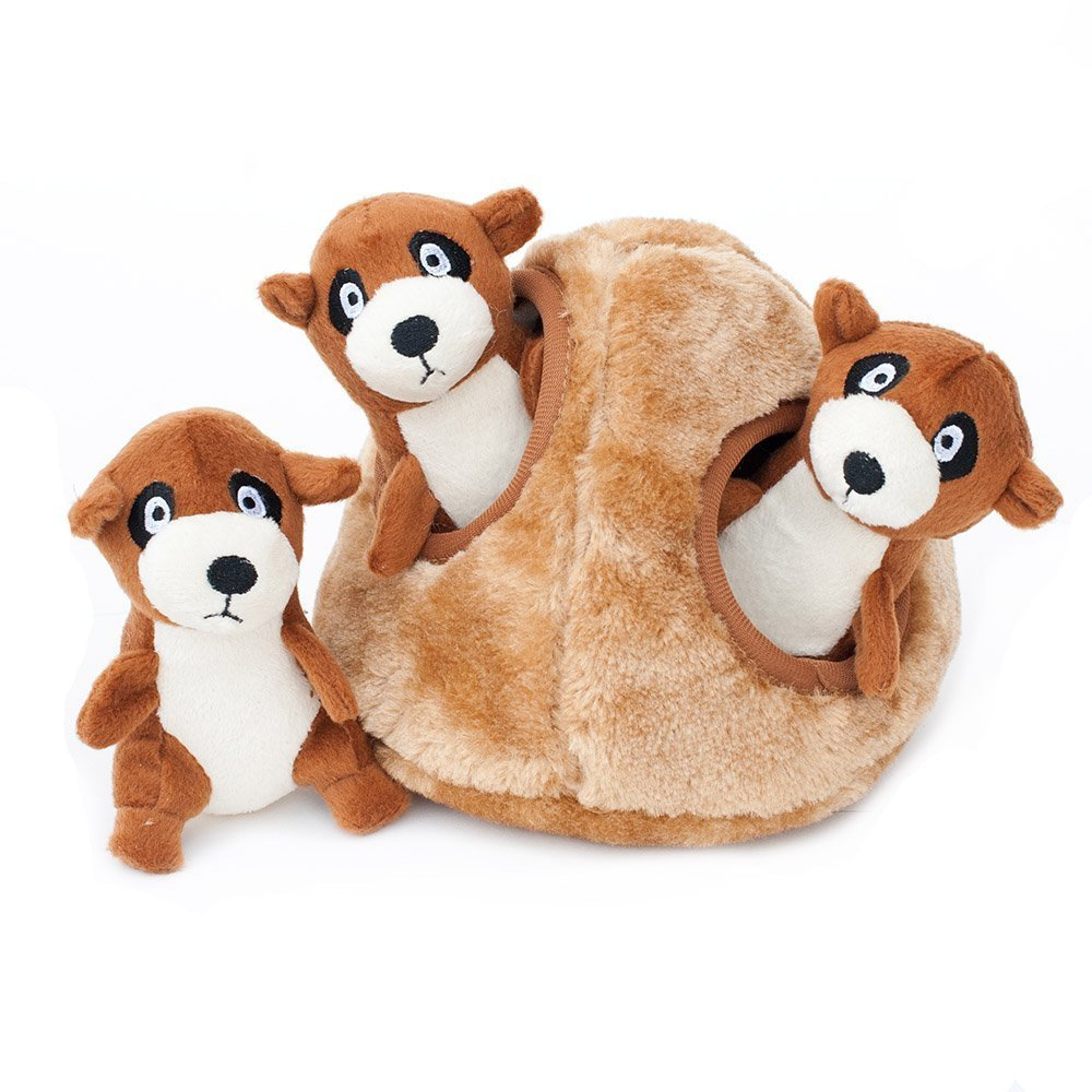 Toy Dogs, Zippypaws Meerkat Den Tough Squeaky Puppy Breed Dog Chew Toys