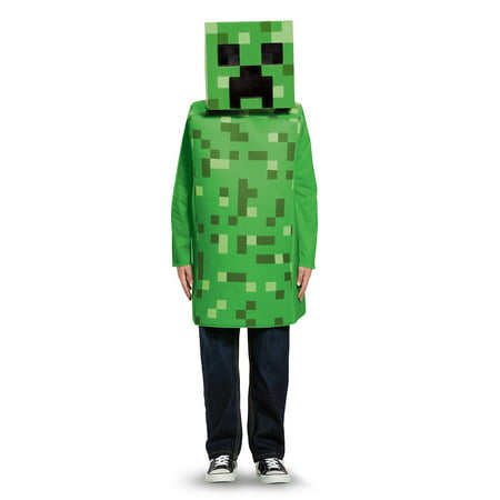 Minecraft Creeper Classic Child Costume - Steve Minecraft Halloween Costume