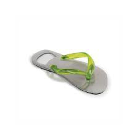 """5"""" Fashion Avenue Lime Green Flip Flop Silver Stainless Steel Bottle Opener - image 2 of 2"""