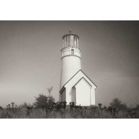 (Misty Lighthouse IV, Fine Art Photograph By: Vitaly Geyman; One 24x18in Fine Art Paper Giclee Print)