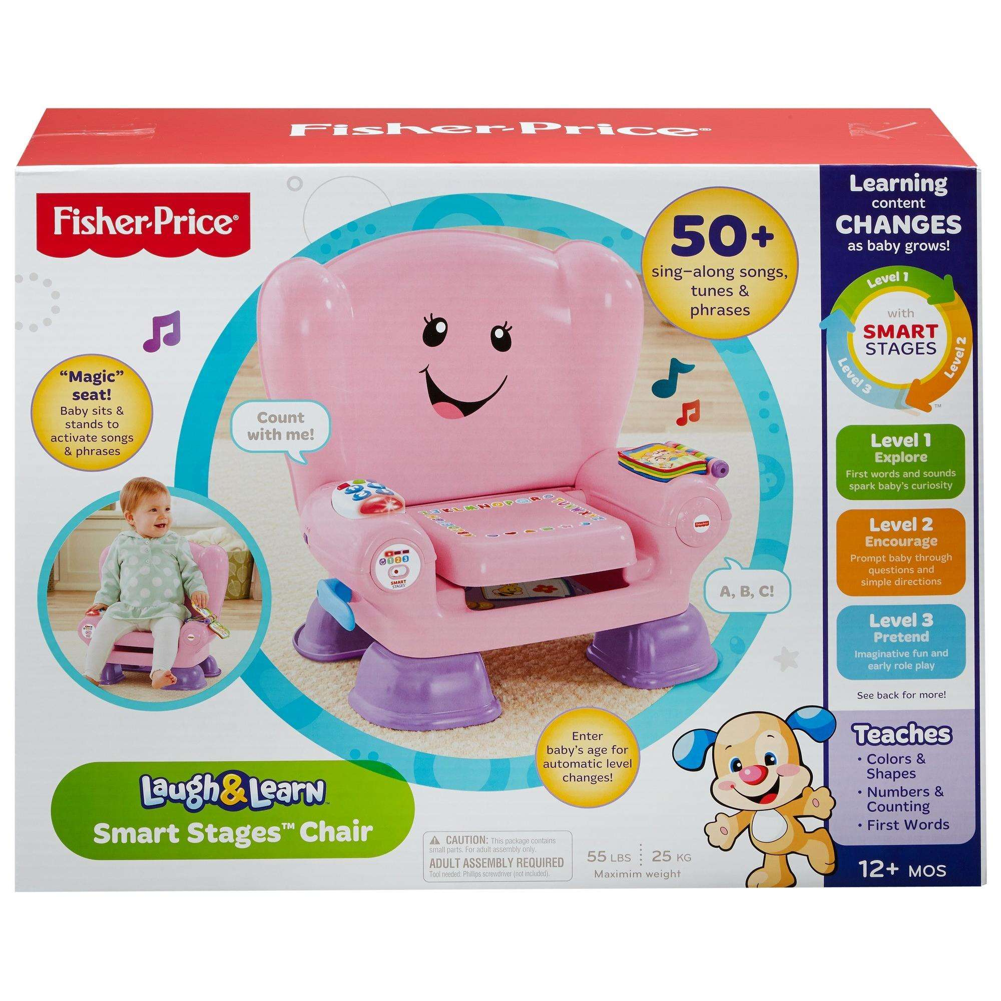 fisher-price laugh & learn smart stages chair pink - walmart