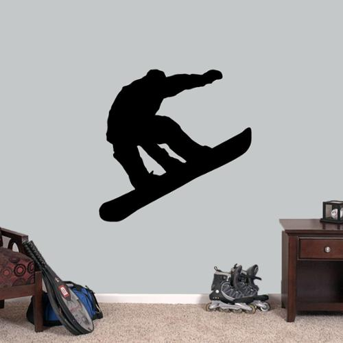 Sweetums Snowboarder 36-inch Wide x 36-inch Tall Wall Decal