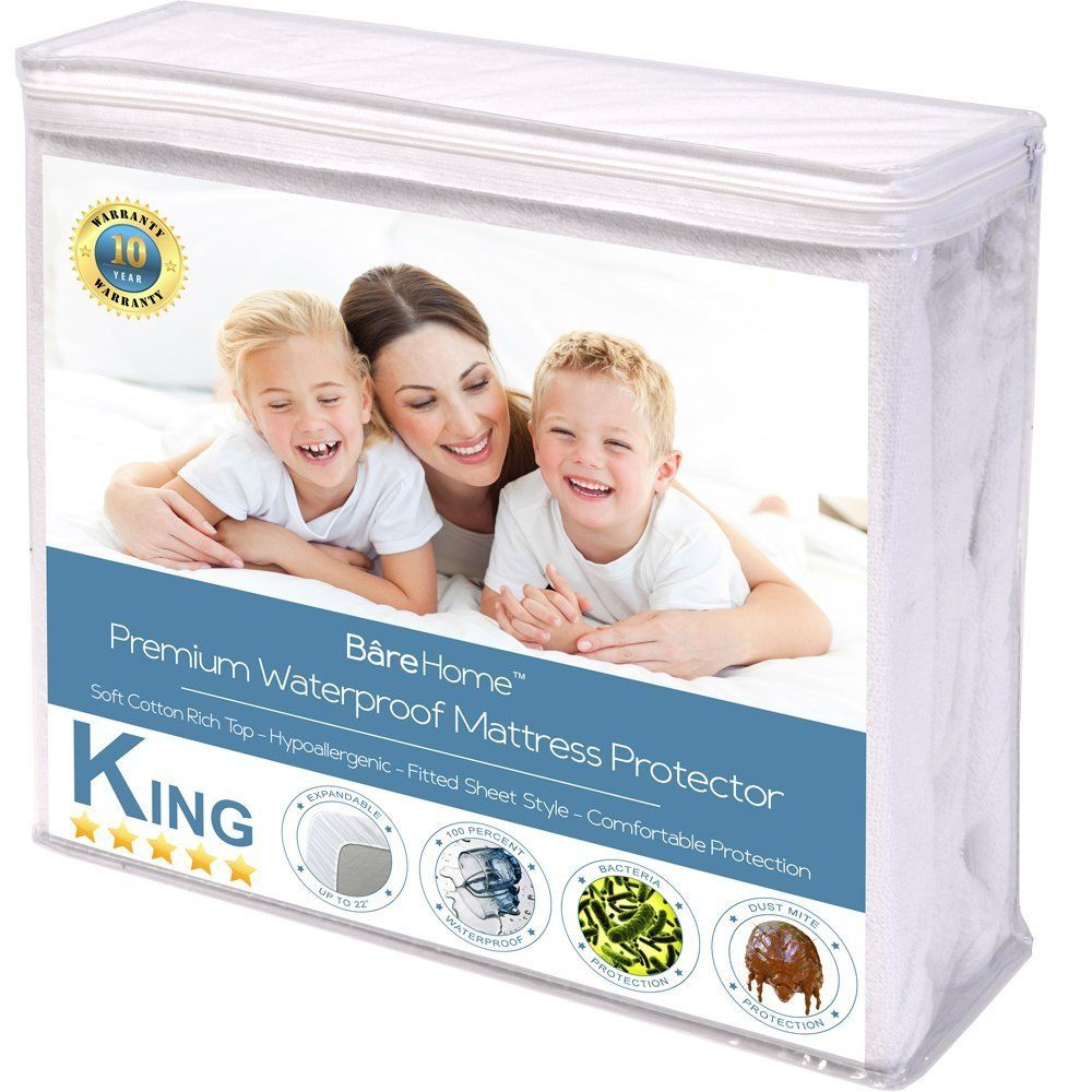 Premium Waterproof Hypoallergenic Mattress Protector by Bare Home by Bare Home