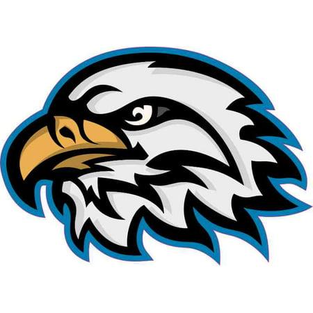 5in x 3.5in Blue Eagle Head Mascot Sticker Vinyl School Bumper - Cheap Mascot Heads