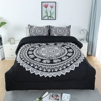 3-Piece Bed in a Bag Home Bedding All-Season Down Alternative Comforter Set Galaxies Blue Twin