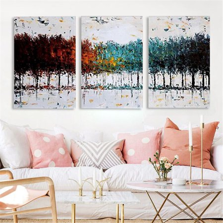 (3PCS Modern Abstract Tree Picture Canvas Print Painting Wall Art Decor Framed)