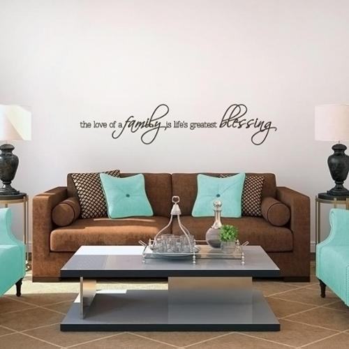 Life's Greatest Blessing 48 x 10 Wall Decal MOCHA