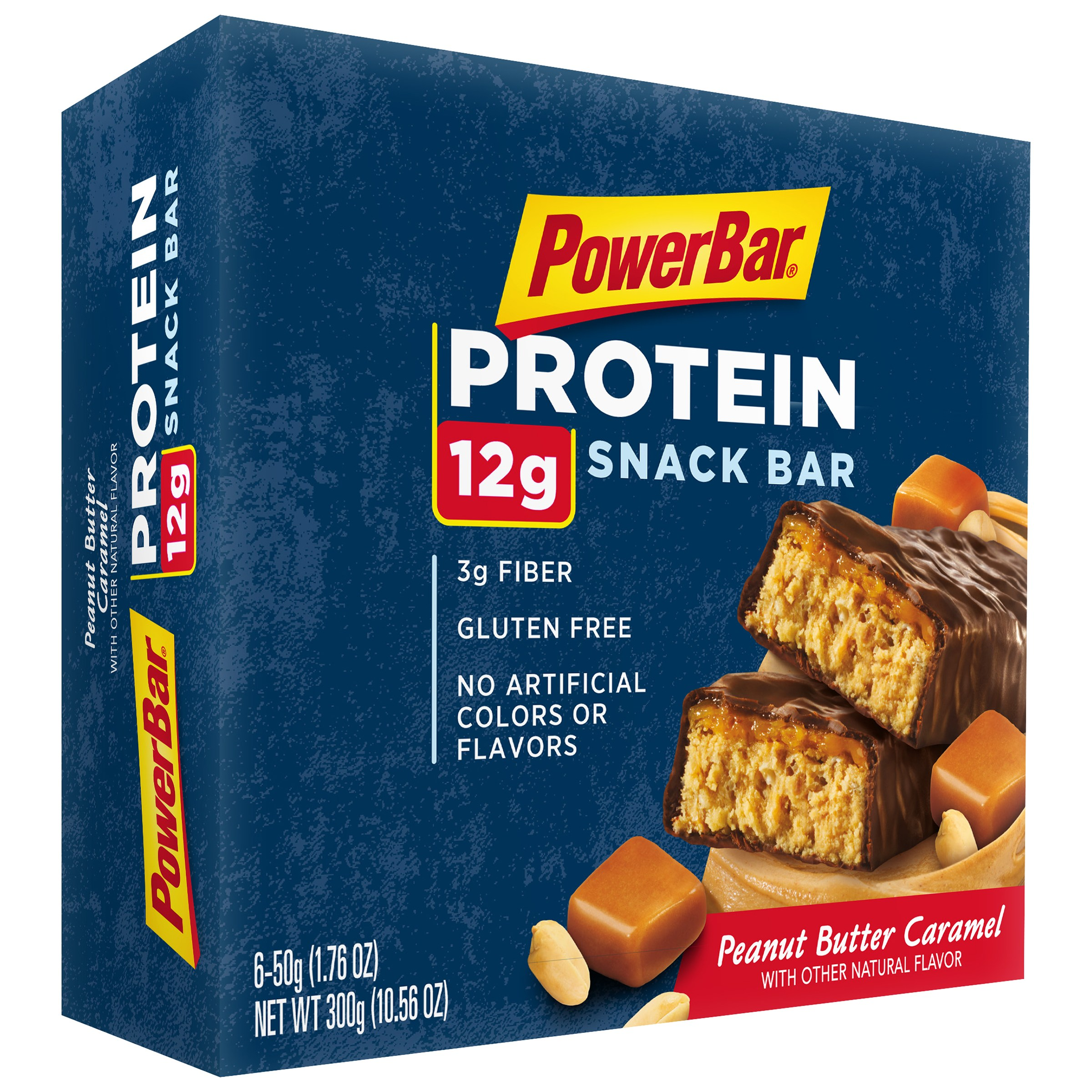 PowerBar Triple Threat Peanut Butter Caramel Energy Bars, 0.76 oz, 6 ct