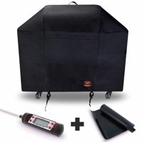 Yukon Glory 7130 Grill Cover for Weber Genesis II 3 Burner & Genesis 300 Series Grills FREE BONUS MEAT & POULTRY THERMOMETER + BBQ GRILLING MATT