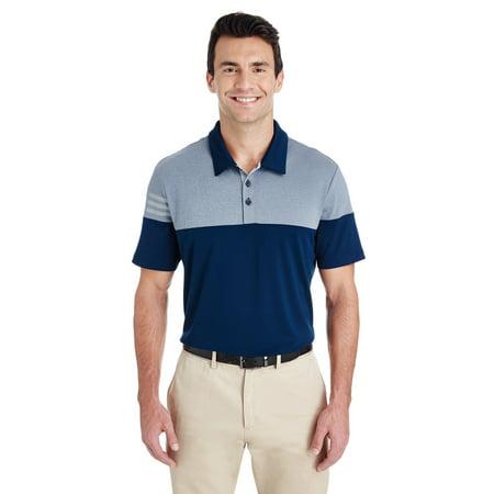 adidas Golf Men's 3-Stripes Heather Block Polo