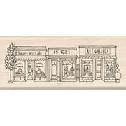 "Inkadinkado Mounted Rubber Stamp, 4.75"" x 2"", City Shops"