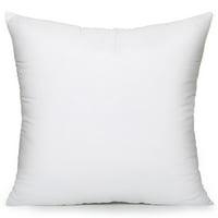 Acanva Throw Pillow Inserts Decorative Stuffer Pillows Hypoallergenic Euro Sham Cushion Filler White 12 x 20 4 Pack