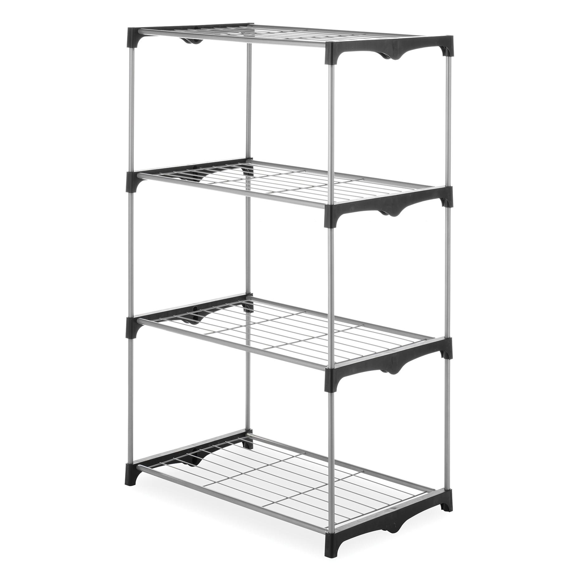Whitmor 4 Tier Closet Shelves Silver / Black
