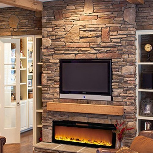 Gibson Living Sydney Log Wall Mount Electric Fireplace