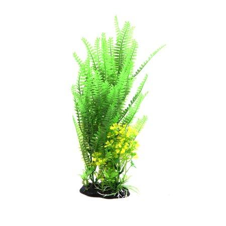 Green Plastic Leaves Plant Aquarium Tank Terrarium Landscaping Decor for Reptile - image 2 of 4
