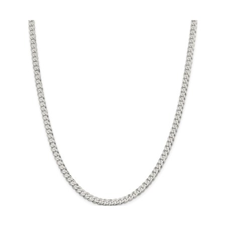 925 Sterling Silver 4.5mm Beveled Curb Chain - image 5 of 5