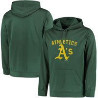 Oakland Athletics Majestic Big & Tall Distressed Hoodie - Green