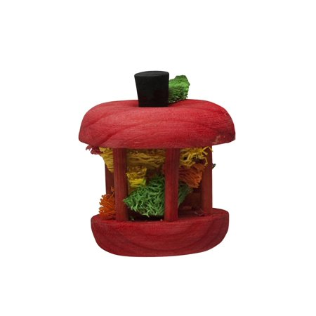 Carousel Chew Toy Apple, Small, Provides your pet with hours of fun activity, By Kaytee - Apple Toys