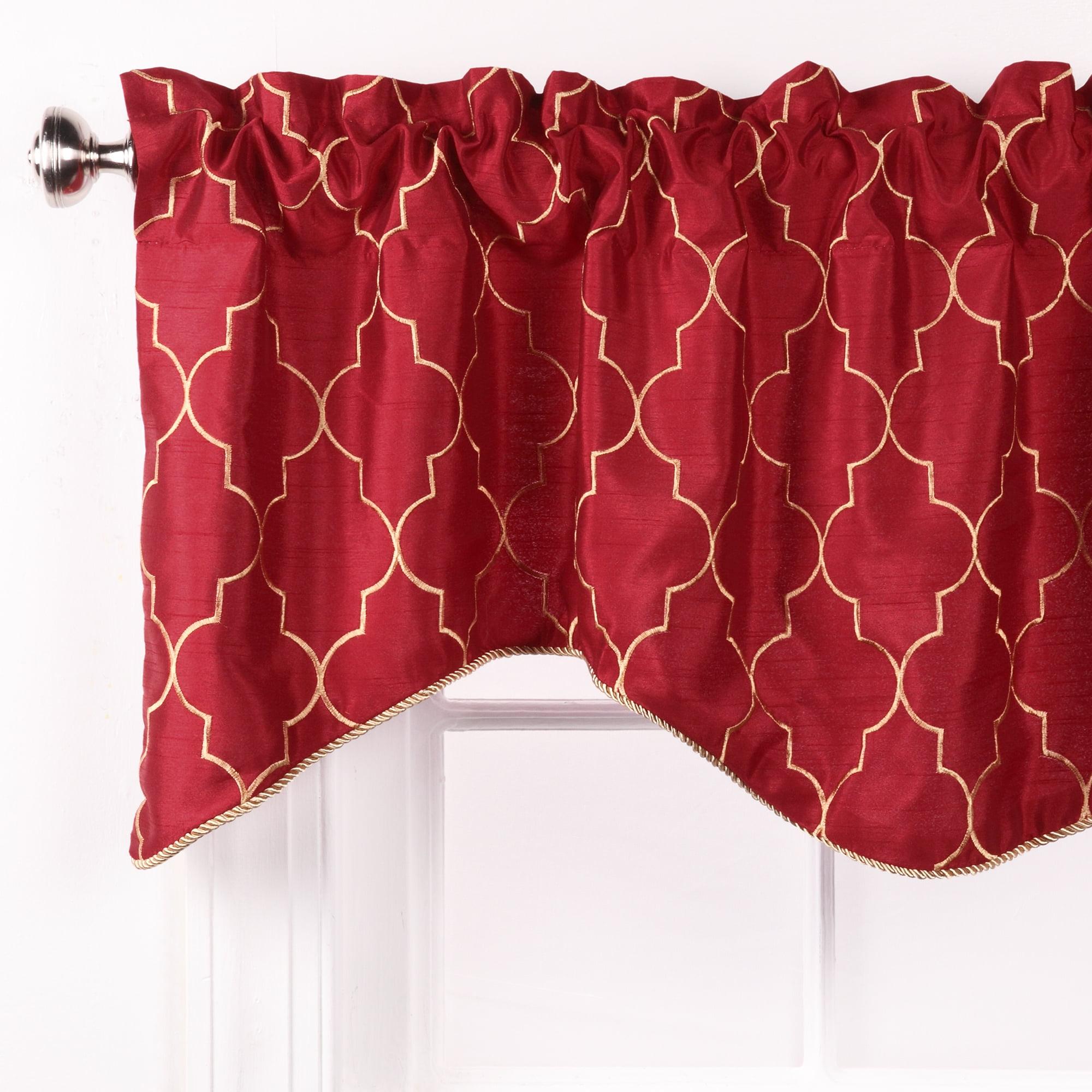window tapestry x fabric valances lined valance p scalloped como