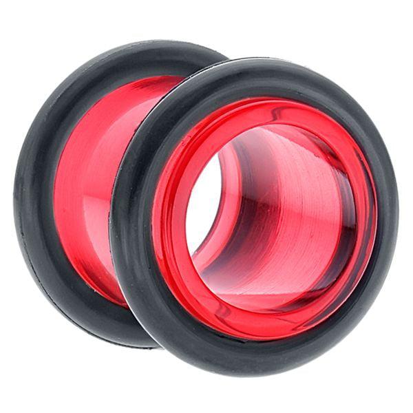 Red Acrylic Tunnel Plug Earlet Ear Plug