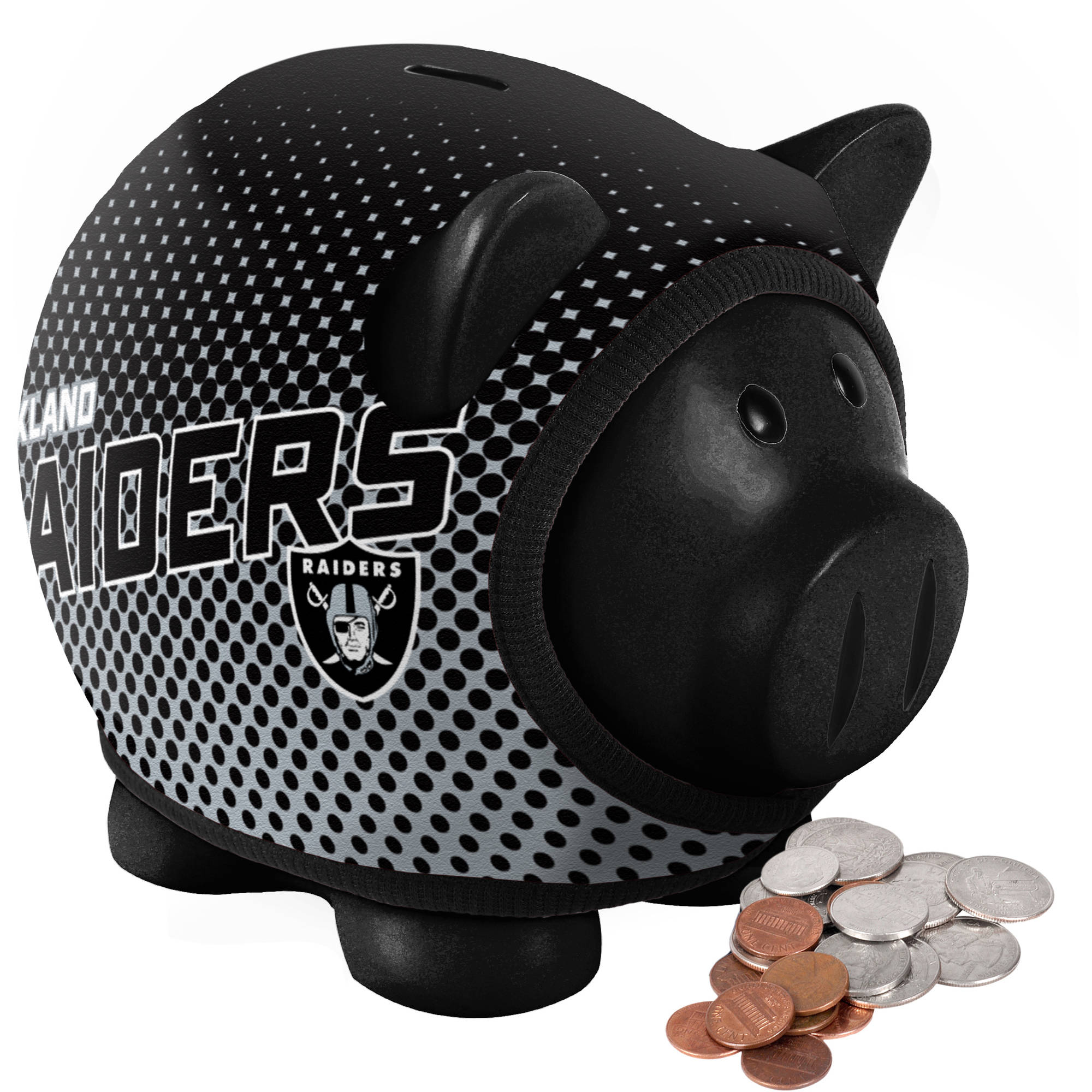 Forever Collectibles NFL Sweater Piggy Bank, Oakland Raiders ...