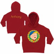 Personalized Caillou Hello Caillou Toddlers' Red Hoodie