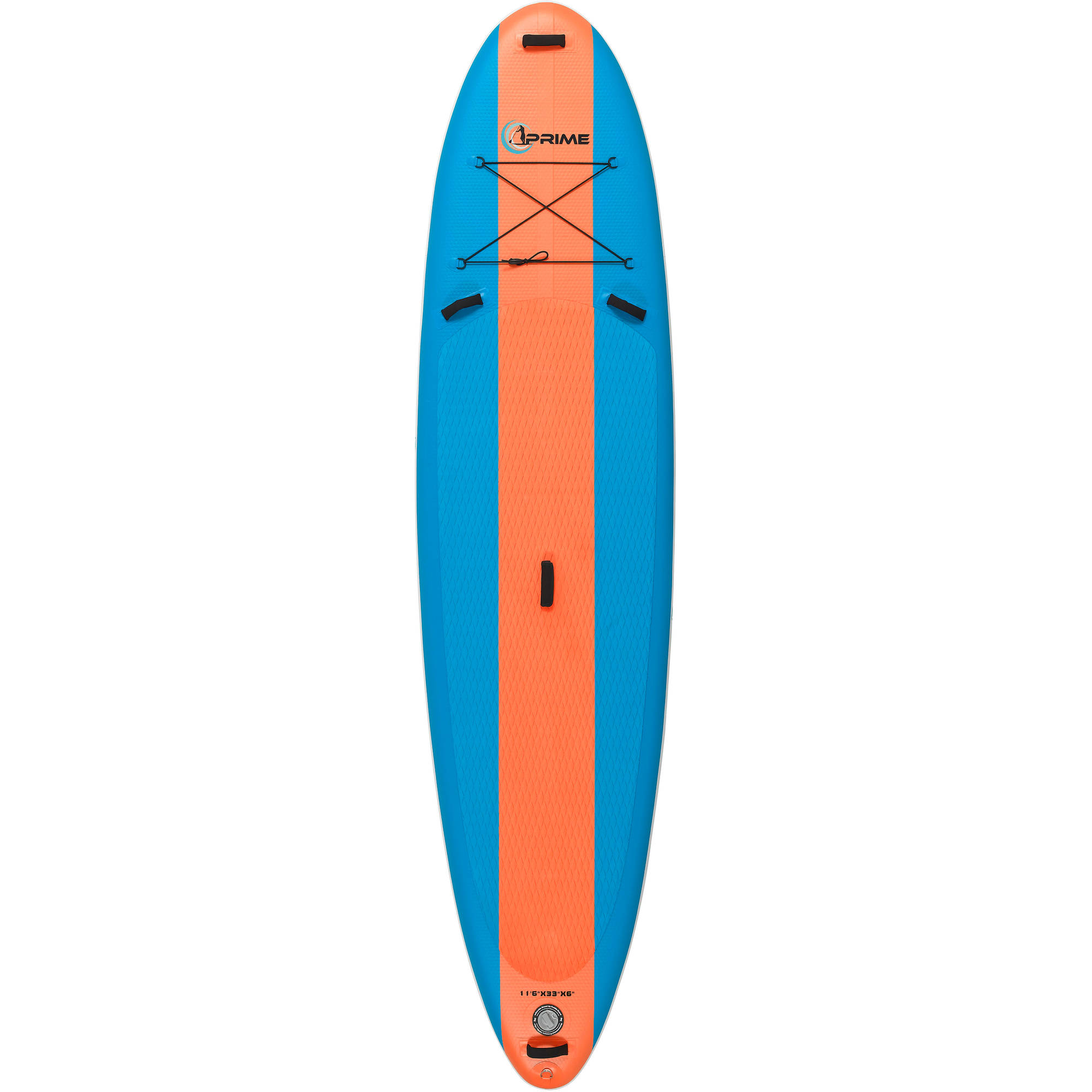 Click here to buy Prime Paddle Boards 11'6 Inflatable SUP Package with Board, Adjustable Paddle, High Pressure Pump, Travel bag, Fins and....