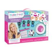 Glitter Dream Nail Spa Salon Kit, Kids Nail Polish and Manicure Set