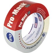Intertape 5102-1.5 Masking Tape, 1-1/2 in W x 60 yd L, Beige, Synthetic Adhesive