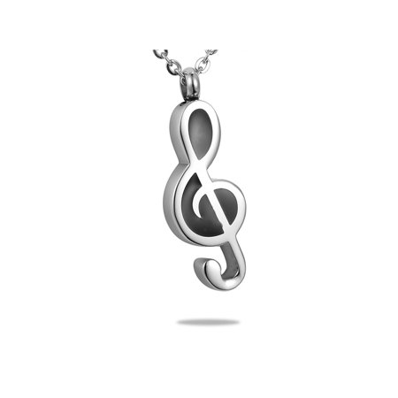 Musical Note Cremation Jewelry Pendant Keepsake Memorial Urn Necklace for