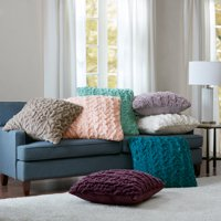 Home Essence Ruched Fur Euro Pillow