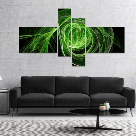 DESIGN ART Designart 'Green Ball of Yarn' Abstract Canvas art print 60 in. wide x 32 in. high - 4