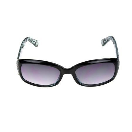 Foster Grant Women's Black Rectangle Sunglasses G05