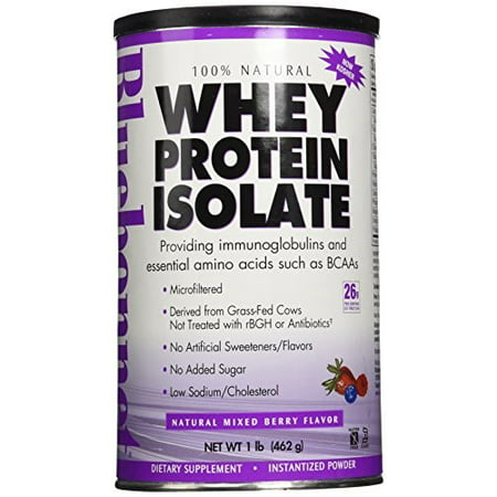 BlueBonnet 100% Natural Whey Protein Isolate Powder, Mixed Berry, 1 Pound