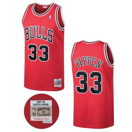 meet 980b7 5944d Chicago Bulls Scottie Pippen Red Mitchell & Ness Swingman ...