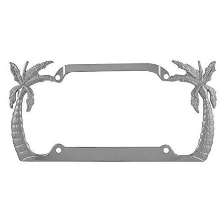 Custom Chrome License Plate Frame, Cool Chrome License Plate Frame Palm  Trees