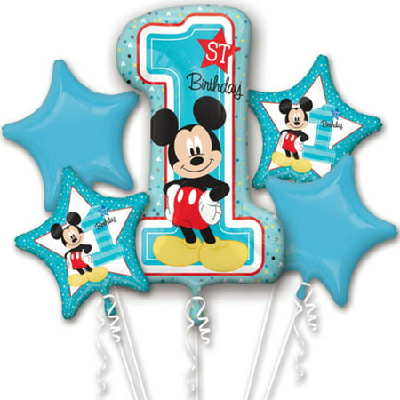 mickey mouse first birthday authentic licensed theme foil balloon - Carnival Themed Balloons