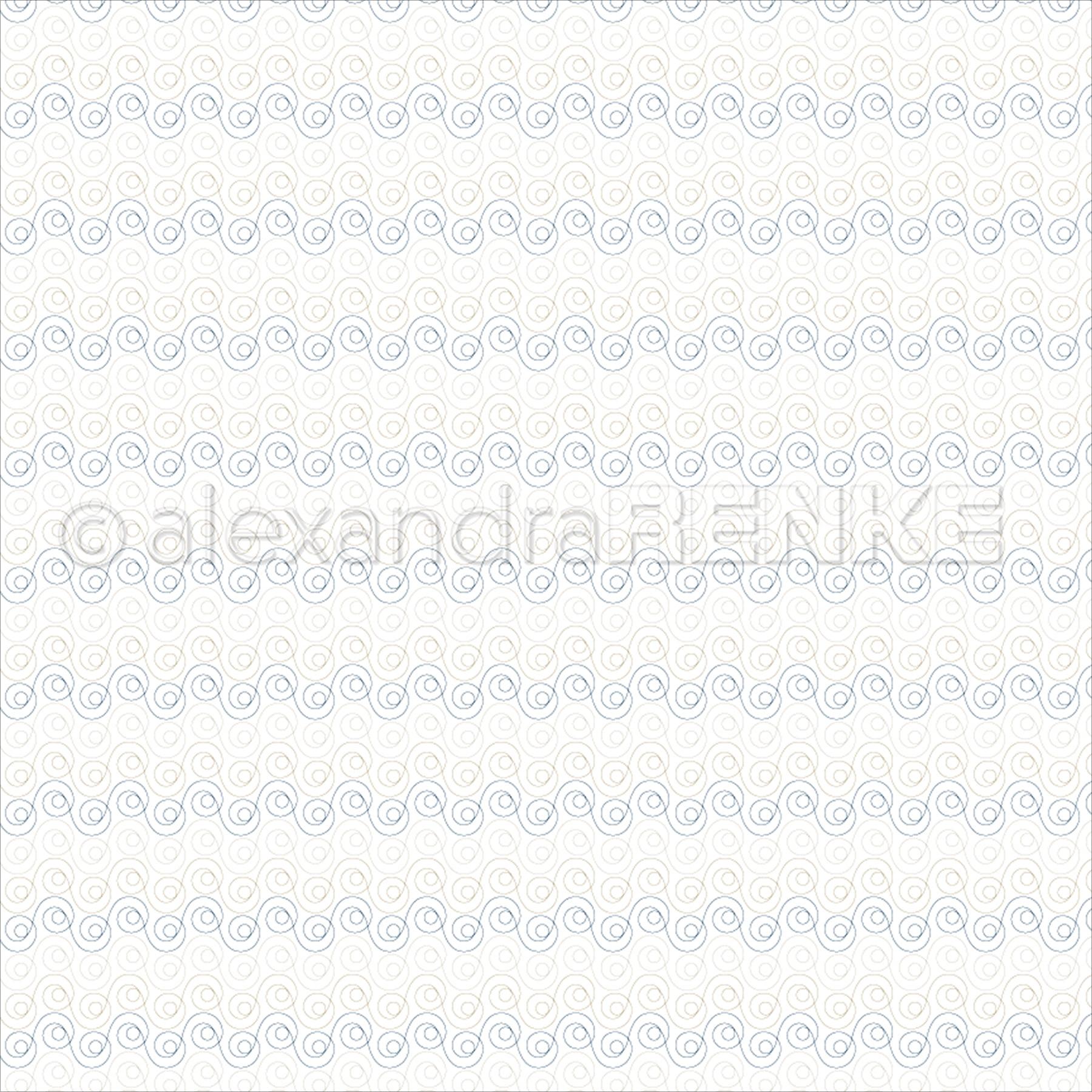 "Alexandra Renke Travel Design Paper 12""X12""-Snail Gold/Blue"