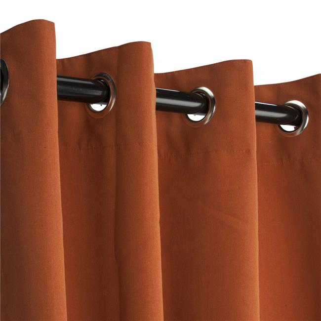 Hammock Source CUR84RSGRSN 50 x 84 in. Sunbrella Outdoor Curtain with Nickel Plated Grommets, Rust