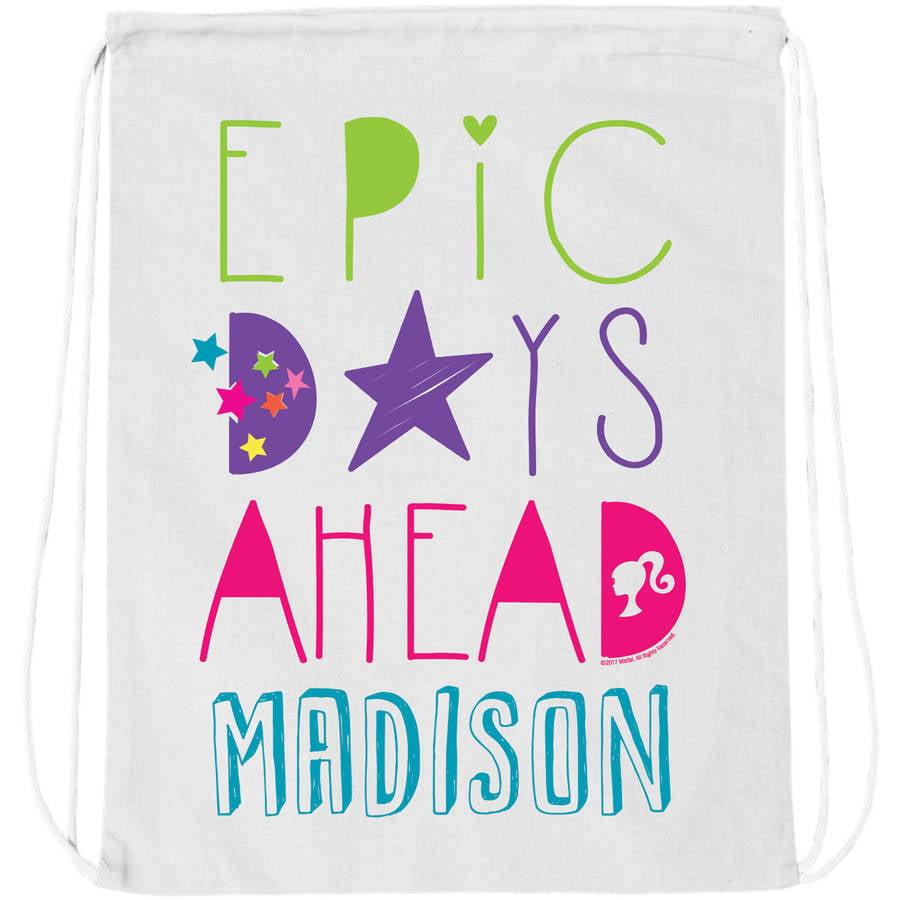 Personalized Barbie Epic Days Ahead Drawstring Bag