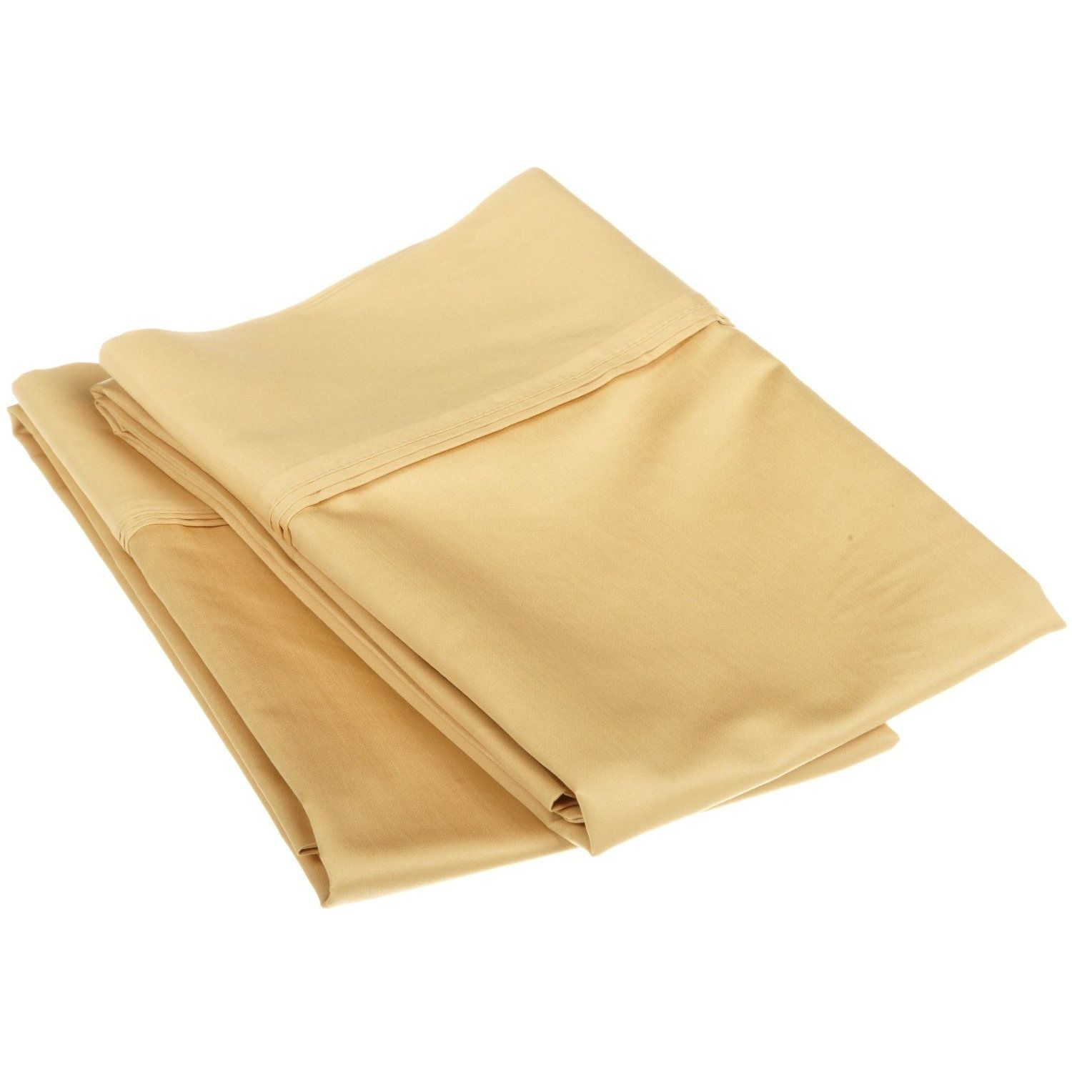 Superior 1200 Thread Count Single-Ply Egyptian Cotton Solid Pillowcase Set