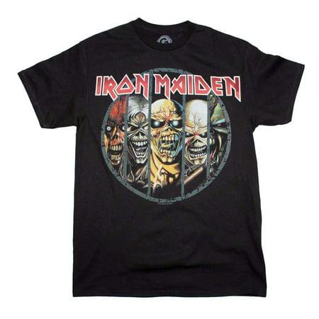 Iron Maiden Eddie Evolution T-Shirt - Black - XL - Iron Maiden Eddie Halloween