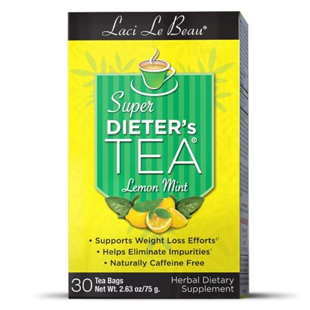Laci Le Beau Super Dieter's Tea Lemon Mint 30 Tea Bags Lemon Mint Flavor