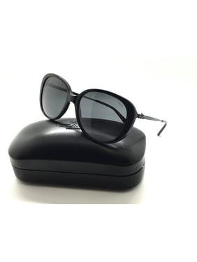 654cc79eb0 Product Image Coach Women s HC8215 548287 57 Black Plastic Metal Oval  Sunglasses