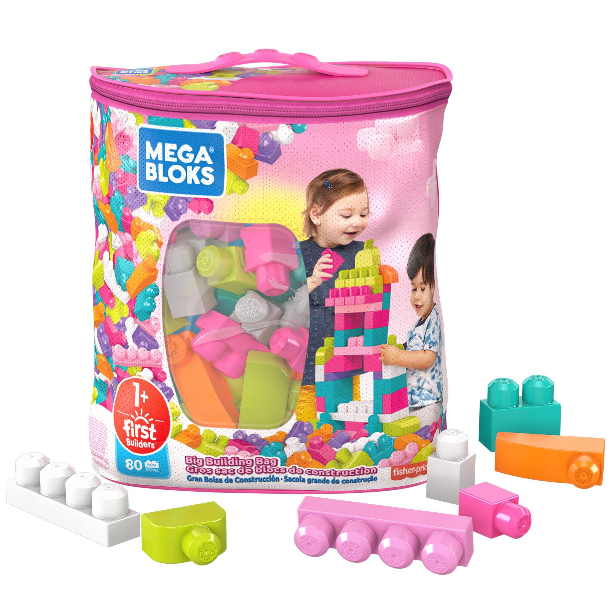 Mega Bloks First Builders Big Building Bag with Big Building Blocks, Building Toys for Toddlers (80 Pieces)