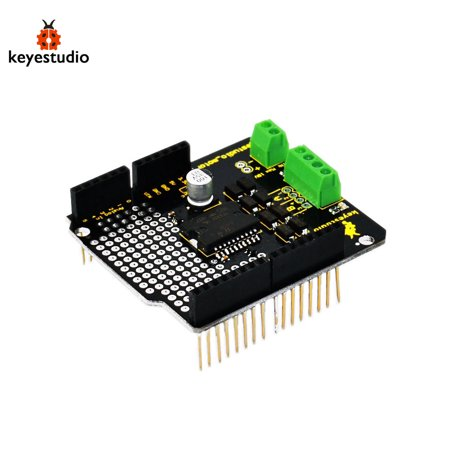 Brand New L298P 2A Module Keyestudio Large Current Dual DC Motor Driver Shield Board Compatible for (Best Arduino Motor Shield)