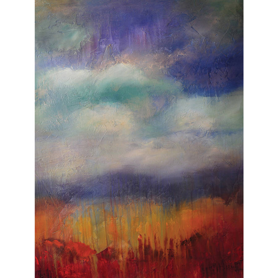 """Portfolio Canvas Decor """"Blue Skies"""" Framed and Stretched Large Wall Art"""